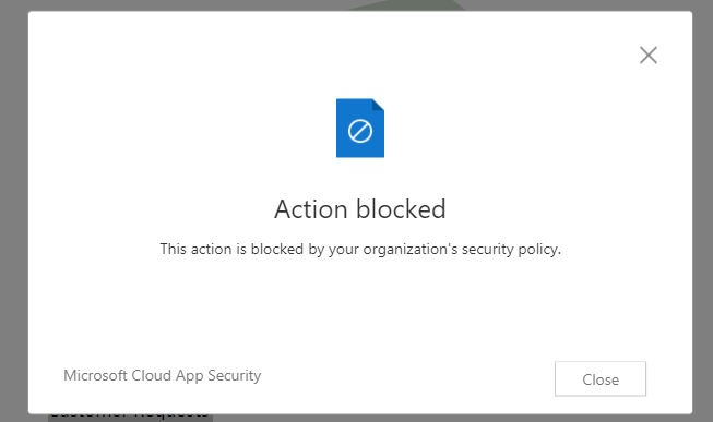 Screenshot: geblocktes Strg#C